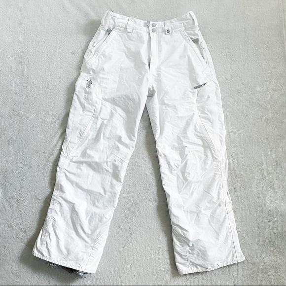 Burton women's white snow ski pants size small